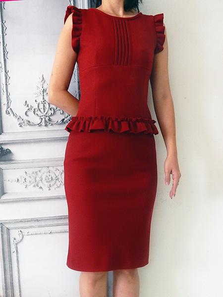 manielle レッドドレス
