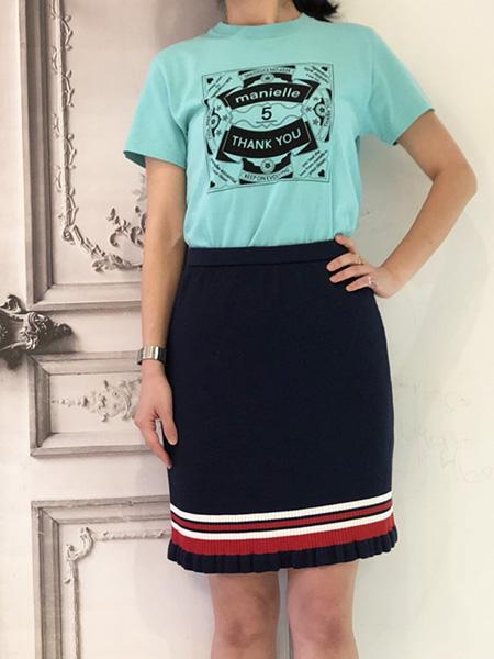 3ラインニットスカート