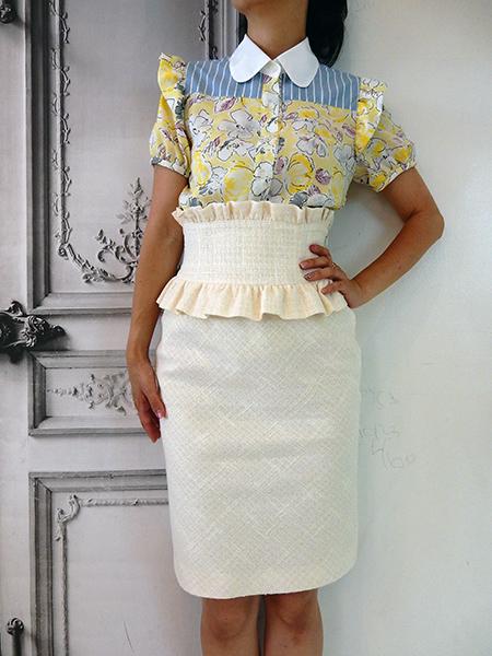 サマーホワイトスカート