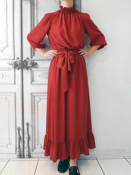 シンプルロングドレス